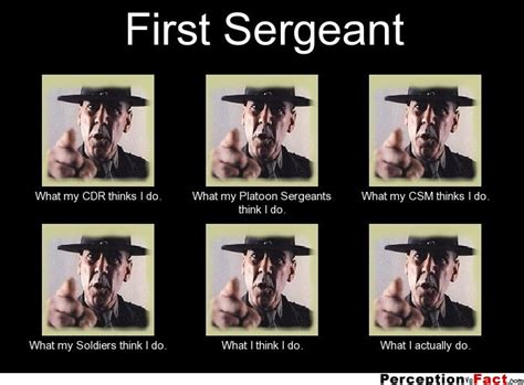 First Sergeant Meme - first sergeant what people think i do what i really do perception vs fact