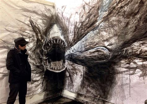 dark  drawings pop   paper  life sized