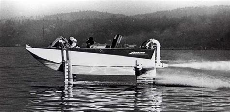 Hydrofoil Pontoon Boat by Boeing Aquajet Hydroplane And Hydrofoil Development Us