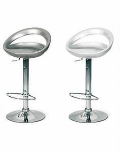 Tabouret De Bar Gris : tabouret de bar blanc ou gris design lotus lot de 2 ~ Teatrodelosmanantiales.com Idées de Décoration