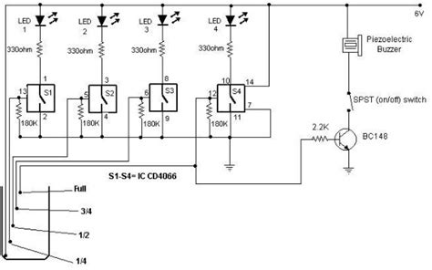 Water Level Indicator Circuit Using Cmos Ics