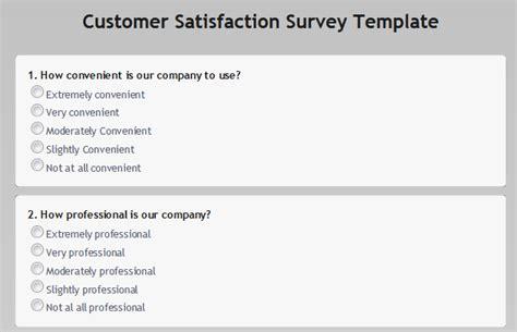 customer survey template customer satisfaction surveys obsurvey obsurvey free survey maker no 1 web survey
