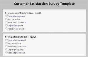 Online customer satisfaction survey for New customer questionnaire template