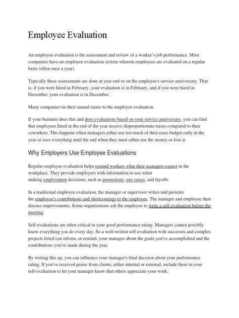 21946 goals employee performance evaluation employee evaluation performance appraisal goal