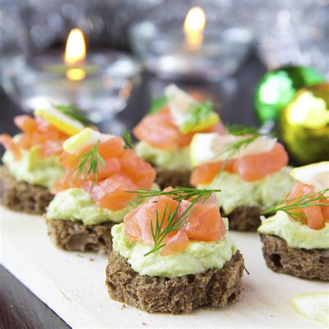 canape saumon luxurious appetizers youne