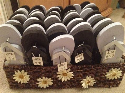 57 Best Wedding Flip Flop Baskets Images On Pinterest