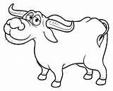 Buffalo Cartoon Coloring Kalabaw Carabao Clipart Vector Drawing Illustration Bills Getcolorings Depositphotos Printable Getdrawings Illustrations sketch template