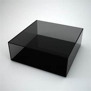 long mirrored coffee table by mirrorbox klarity With black square coffee table with glass top