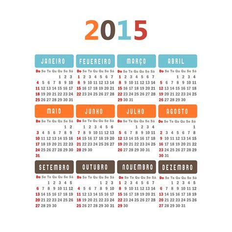 CalendÁrio De 2015 Com Feriados