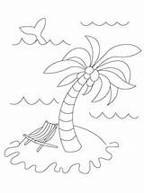Coloring Island Summer Pages Palm Tree Printables Activities Mr Under Mrprintables sketch template