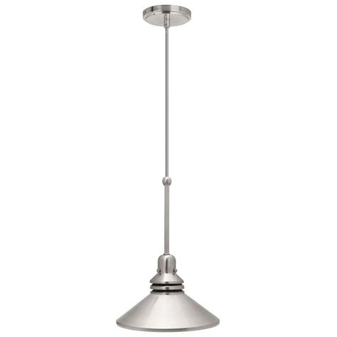 pendant track lighting hton bay 86 in 1 light brushed nickel pendant track
