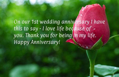 st anniversary wishes  anniversary messages wishesmsg
