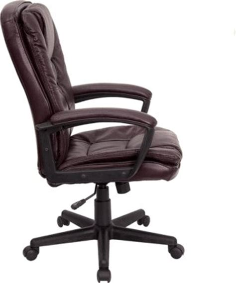 burgundy leather executive office chair desk swivel