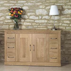 Mobel Oak Six Drawer Sideboard Wooden Furniture Store
