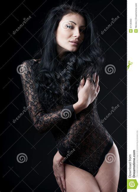 Seductive Woman In Sensual Lingerie Stock Photos Image