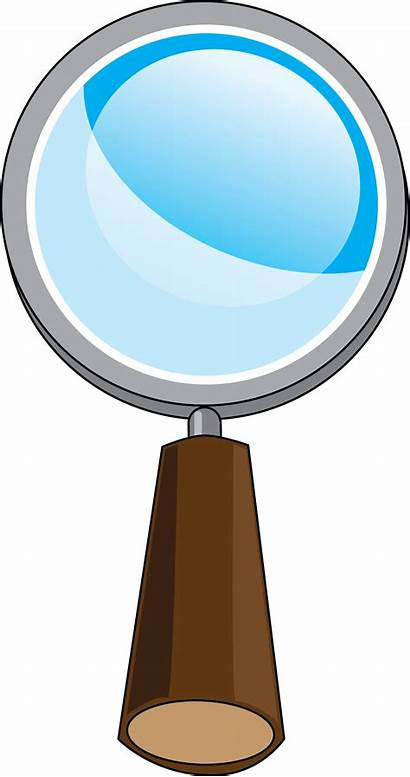 Glass Magnifying Cartoon Clipart Detective Clip Vbs