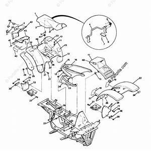 Polaris Atv 1991 Oem Parts Diagram For Body Assembly 250