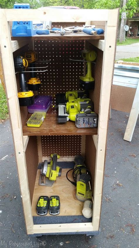 pegboard hooks rolling tool cart with pegboard storage my repurposed