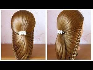 Coiffure Mariage Facile Cheveux Mi Long : tuto coiffure facile pour soir e mariage f tes cheveux mi long long simple et rapide ~ Nature-et-papiers.com Idées de Décoration