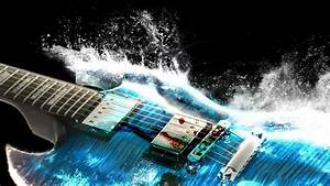 Guitar splash in water amazing music images HD
