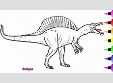How to Draw a Spinosaurus Dinosaur for Children Learn