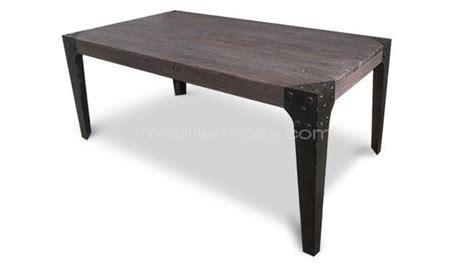 Table Rectangulaire Chicago En Bois De Style Industriel