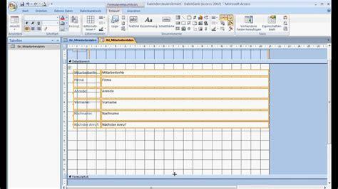 access  kalendersteuerelement hinzufuegen youtube