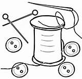 Coloring Buttons Bottoni Ausmalbilder Colorear Spool Hilo Spools Kleidung Wooden Vestiti Ausdrucken Zum Malvorlagen Dibujos Crafts Nadel Hilos Printable Kleurplaat sketch template