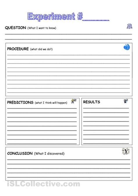 science experiment documentation sheet home schooling