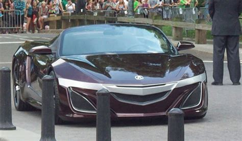 mystery acura sports car spotted  avengers set news