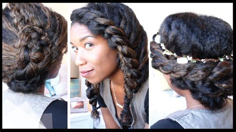 3 Cute + Chic Last Minute Natural Hairstyles
