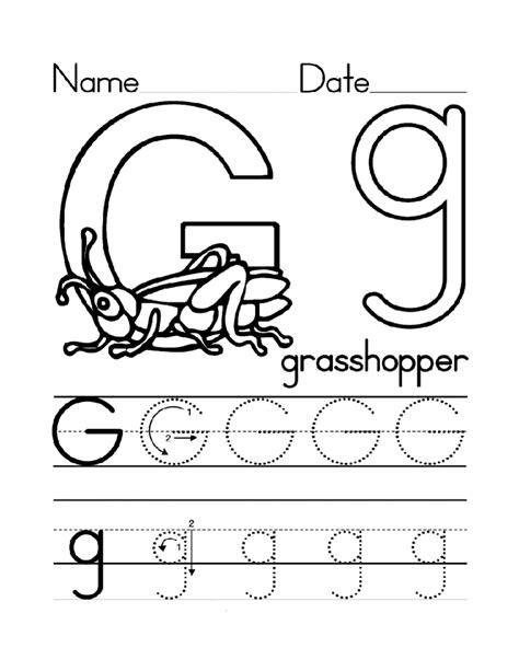 Free Printable Letter G Worksheets For Kindergarten & Preschool