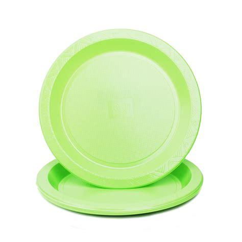 Reusable Plastic Round Colour Plates (10inch) 10pieces