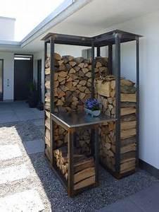 überdachung Für Kaminholz : kaminholzregal fuer ca 1 5 m brennholzregal regal ~ Michelbontemps.com Haus und Dekorationen