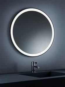 Miroir Rond Lumineux : miroir lumineux de salle de bains rond inox poli ~ Zukunftsfamilie.com Idées de Décoration