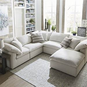 Envelop small u shaped sectional bassett home furnishings for Small sectional sofa bassett