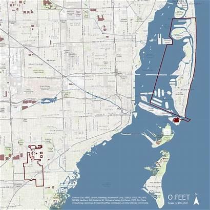 Sea Level Rise Miami Map Beach Change