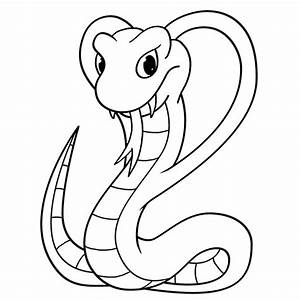 Cartoon Cobra Step by Step Drawing Lesson