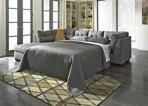 benchcraft maier charcoal 2 piece sectional w sleeper With sectional sofa with 2 recliners and sleeper