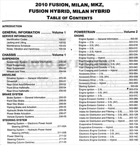 manual repair autos 2010 ford fusion engine control 2010 fusion milan mkz and hybrid repair shop manual original set