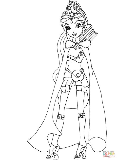 After High Kleurplaat Hanter En Eswing by After High Legacy Day Coloring Page Free
