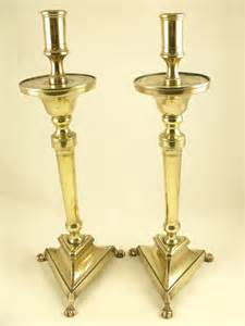 Antiques Atlas  Large Pair Of Early 19th C Brass Candlesticks