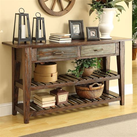 Entryway Accent Furniture by Coast To Coast Imports Courtland Console Table In Brown