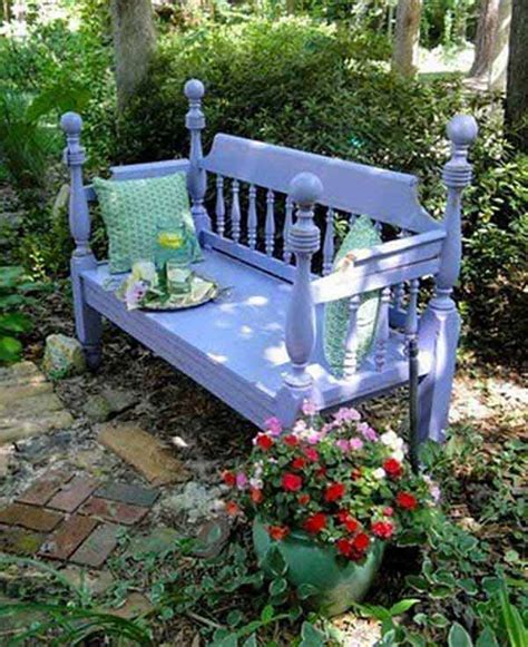 35 Beautiful Garden Benches Projects To Realize This