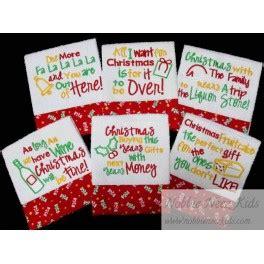 funny kitchen towel christmas sayings nobbieneezkids