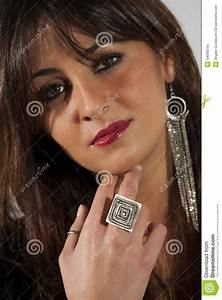 Beautiful Model Woman, Makeup And Accessories Stock Image ...