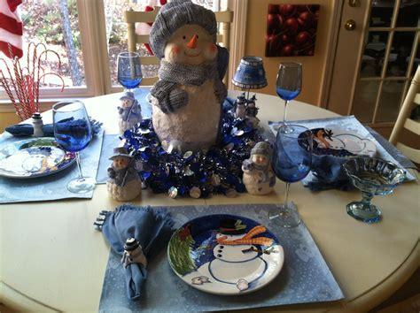 Snowman Table Decorations - gorgeous table settings decorates