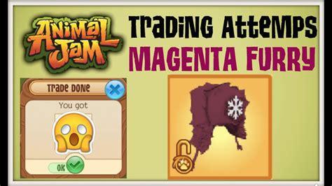 animal jam trading magenta furry hat youtube