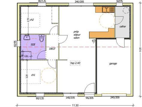 maison 3 chambre plan maison 70m2 3 chambres