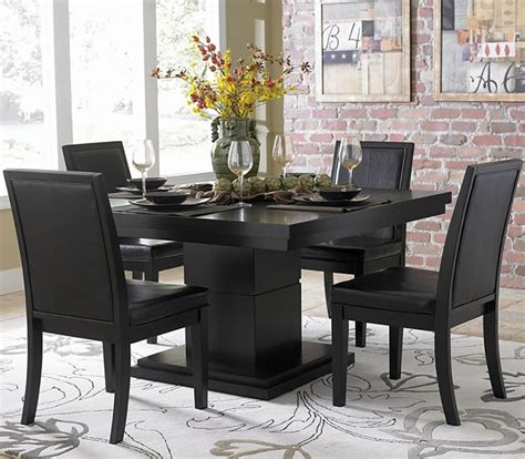 Black Dining Set black dining sets 3 black dining room table sets